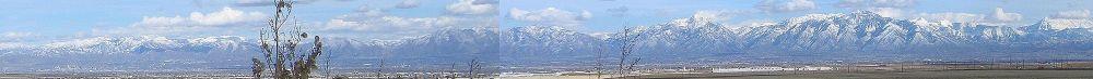 WIKIPEDIA - Wasatch Range, Salt Lake City, Utah... Click on the pic for full panorama.