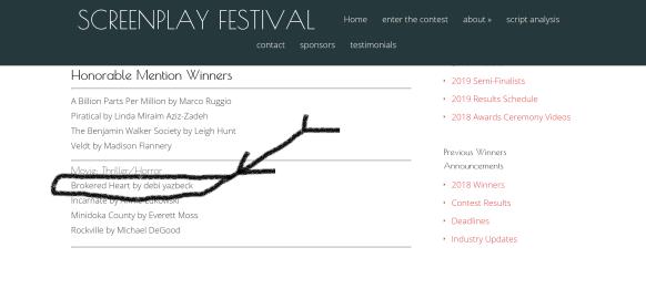 Screenplay Win
